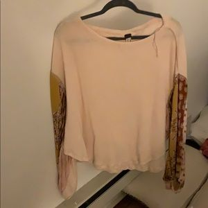 Free people patterned sleeve top